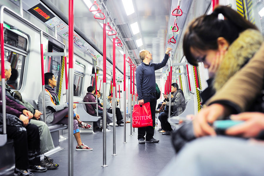 Sexual harassment in crowded bus touching