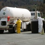 Truck Carrying Hazardous Materials Spills Load