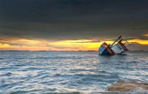 ship-wrecked-at-sunset-in-chonburi-thailand