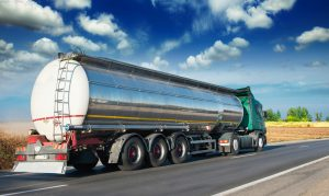 Automotive fuel tankers shipping fuel