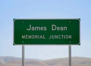 James Dean Memorial Sign