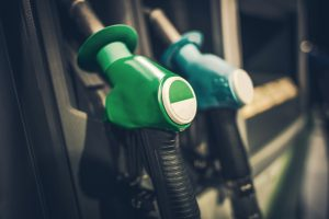 Gasoline Pump Nozzles Closeup Photo