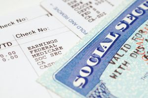 Social security card with statements