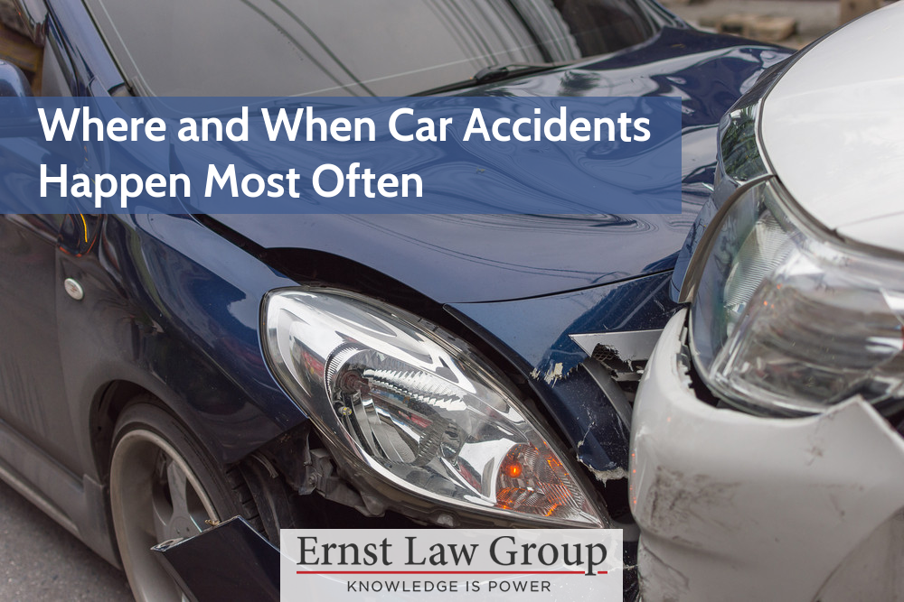 Where and When Car Accidents Happen Most Often - Ernst Law Group