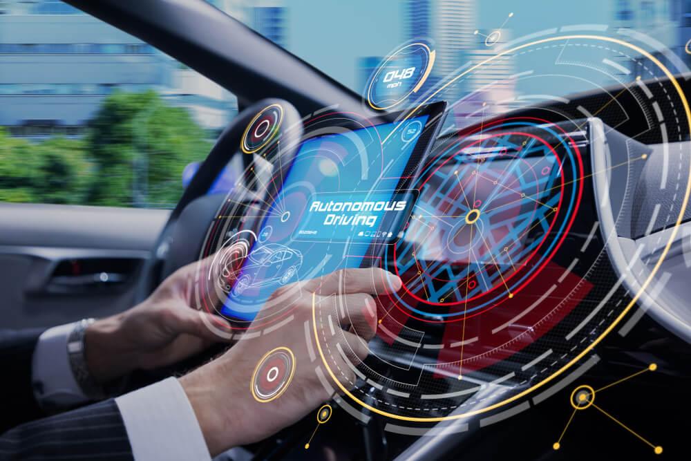 Cockpit of the autonomous car concept