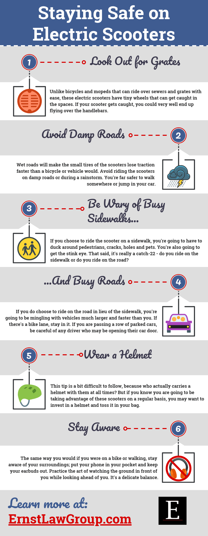 Staying Safe on Electric Scooters infographic