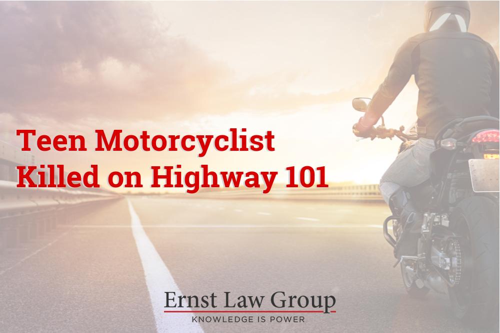 Teen Motorcyclist Killed on Highway 101
