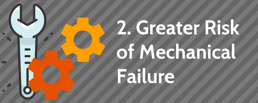 2. Greater Risk of Mechanical Failure