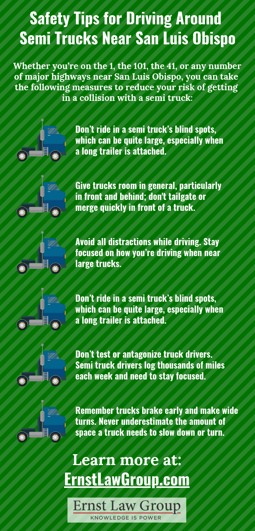 Safety Tips for Driving Around Semi Trucks Near San Luis Obispo