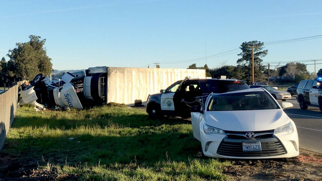 Sysco Truck Overturned Accident