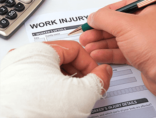Filling out Paperwork after Truck Accident